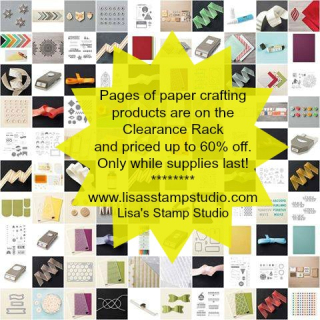 Clearance Rack product collage with my info