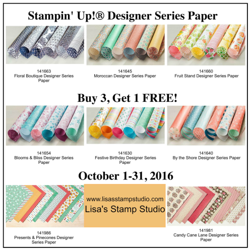 Buy 3, get 1 free sale, Lisa's Stamp Studio