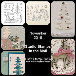 Studio Stamps in the Mail, November 2016, Lisa's Stamp Studio, www.lisasstampstudio.com
