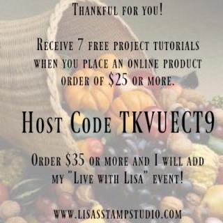 Online Ordering Rewards, Lisa's Stamp Studio, www.lisasstampstudio.com