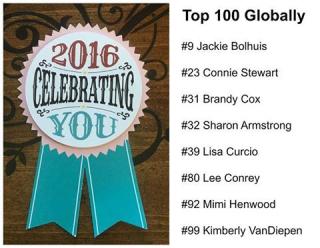 OnStage Global Top 100, Creativate Team, www.lisasstampstudio.com