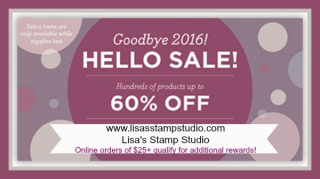 Year End Close Out 60% off, www.lisasstampstudio.com, Lisa's Stamp Studio