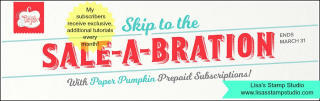 Sale-A-Bration Paper Pumpkin Sale includes a free sale item of your choice, Lisa's Stamp Studio, www.lisasstampstudio.com