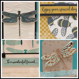 Dragonfly Dreams Card Collection, Lisa's Stamp Studio, PDF tutorial, www.lisasstampstudio.com