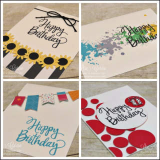 Stylized Birthday Card Collection, Lisa's Stamp Studio, www.lisasstampstudio.com