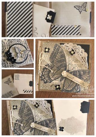 Paper Bag Scrapbook, PDF tutorial, Lisa's Stamp Studio, www.lisasstampstudio.com