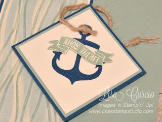 Seaside Shore braided anchor, Lisa's Stamp Studio, www.lisasstampstudio.com
