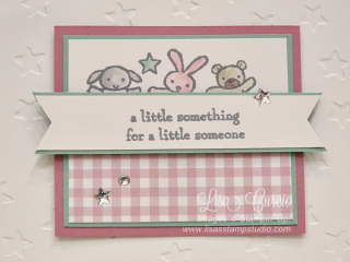 Moon Baby critter card, Stampin' Up!, card, paper, craft, scrapbook, rubber stamp, hobby, how to, DIY, handmade, Live with Lisa, Lisa's Stamp Studio, Lisa Curcio, www.lisasstampstudio.com