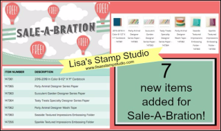 Sale-A-Bration 3rd release of free products, Stampin' Up!, card, paper, craft, scrapbook, rubber stamp, hobby, how to, DIY, handmade, Live with Lisa, Lisa's Stamp Studio, Lisa Curcio, www.lisasstampstudio.com