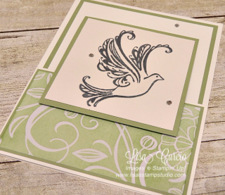 Strength & Prayers with a fancy fold, Stampin' Up!, card, paper, craft, scrapbook, rubber stamp, hobby, how to, DIY, handmade, Live with Lisa, Lisa's Stamp Studio, Lisa Curcio, www.lisasstampstudio.com
