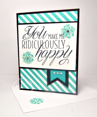 Ridiculously Happy, Stampin' Up!, card, paper, craft, scrapbook, rubber stamp, hobby, how to, DIY, handmade, Live with Lisa, Lisa's Stamp Studio, Lisa Curcio, www.lisasstampstudio.com