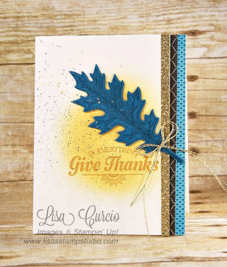 Vintage Leaves Give Thanks, Lisa's Stamp Studio, www.lisasstampstudio.com