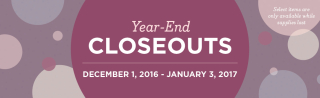 Year End Closeout Sale December 1-January 3, www.lisasstampstudio.com