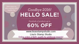 Year End Close Out 60% off, www.lisasstampstudio.com, Lisa's Stamp Studio