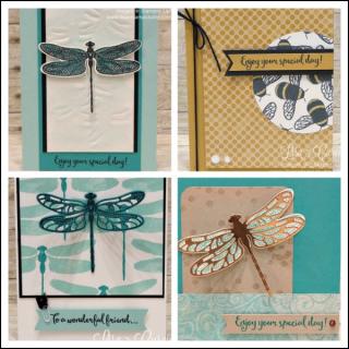 Dragonfly Dreams Card Collection PDF Tutorial, Lisa's Stamp Studio, www.lisasstampstudio.com