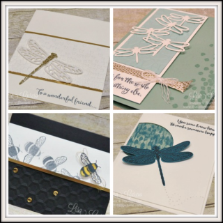 Dragonfly Dreams Card Collection #2 PDF Tutorial, Lisa's Stamp Studio, www.lisasstampstudio.com