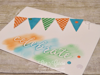 Cool Treats Bundle banners, Stampin' Up!, card, paper, craft, scrapbook, rubber stamp, hobby, how to, DIY, handmade, Live with Lisa, Lisa's Stamp Studio, Lisa Curcio, www.lisasstampstudio.com