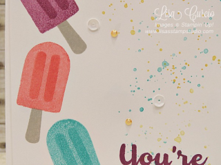 You're Cool, Cool Treats, Stampin' Up!, card, paper, craft, scrapbook, rubber stamp, hobby, how to, DIY, handmade, Live with Lisa, Lisa's Stamp Studio, Lisa Curcio, www.lisasstampstudio.com