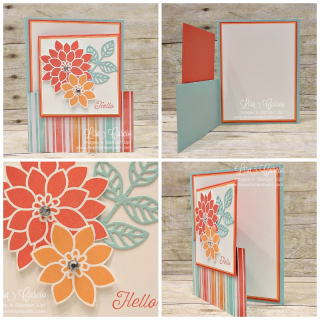 Flourishing Phrases lower gate fold, fancy fold, Stampin' Up!, card, paper, craft, scrapbook, rubber stamp, hobby, how to, DIY, handmade, Live with Lisa, Lisa's Stamp Studio, Lisa Curcio, www.lisasstampstudio.com