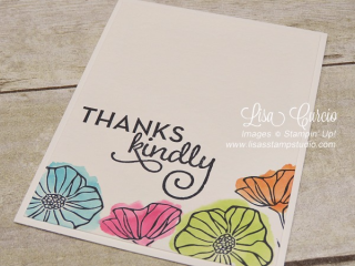 Oh So Eclectic Watercolor Blooms card, Stampin' Up!, card, paper, craft, scrapbook, rubber stamp, hobby, how to, DIY, handmade, Live with Lisa, Lisa's Stamp Studio, Lisa Curcio, www.lisasstampstudio.com