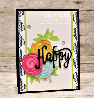 Swirly Bird & Swirly Scribbles Happy Card, Stampin' Up!, card, paper, craft, scrapbook, rubber stamp, hobby, how to, DIY, handmade, Live with Lisa, Lisa's Stamp Studio, Lisa Curcio, www.lisasstampstudio.com