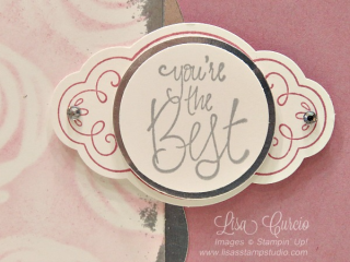 How to create guilding on paper crafts, Stampin' Up!, card, paper, craft, scrapbook, rubber stamp, hobby, how to, DIY, handmade, Live with Lisa, Lisa's Stamp Studio, Lisa Curcio, www.lisasstampstudio.com