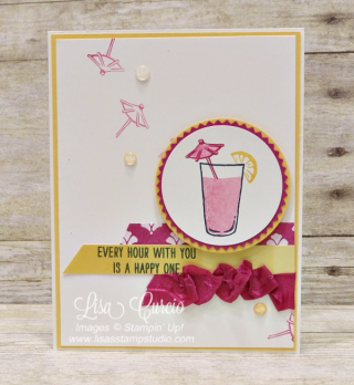 It's a happy hour with Mixed Drinks!  Stampin' Up!, card, paper, craft, scrapbook, rubber stamp, hobby, how to, DIY, handmade, Live with Lisa, Lisa's Stamp Studio, Lisa Curcio, www.lisasstampstudio.com