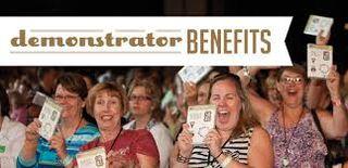 Demonstrator Benefits sign
