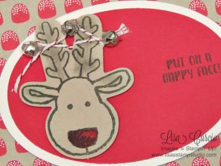 Reindeer & Gumdrops - Cookie Cutter Christmas Bundle  Stampin' Up!, card, paper, craft, scrapbook, rubber stamp, hobby, how to, DIY, handmade, Live with Lisa, Lisa's Stamp Studio, Lisa Curcio, www.lisasstampstudio.com