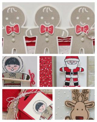 Cookie Cutter Christmas, PDF tutorial, Lisa's Stamp Studio, www.lisasstampstudio.com