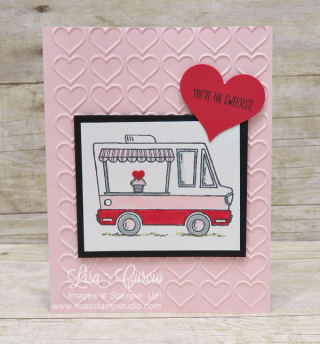 Sweetness in a food truck, Tasty Trucks, Stampin' Up!, card, paper, craft, scrapbook, rubber stamp, hobby, how to, DIY, handmade, Live with Lisa, Lisa's Stamp Studio, Lisa Curcio, www.lisasstampstudio.com