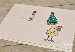 Make it happy using the Sale-A-Bration Hey, Chick and the Celebrations Duo embossing folders. www.lisasstampstudio.com, Lisa's Stamp Studio