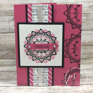 Make a Medallion creates stunning cards with easy photopolymer alignment. Stampin' Up!, card, paper, craft, scrapbook, rubber stamp, hobby, how to, DIY, handmade, Live with Lisa, Lisa's Stamp Studio, Lisa Curcio, www.lisasstampstudio.com