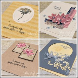 Avant Garden Card Collection tutorial, Lisa's Stamp Studio, www.lisasstampstudio.com