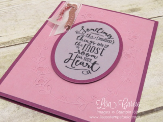 Quick crafting tip to adhere vellum without showing, Stampin' Up!, card, paper, craft, scrapbook, rubber stamp, hobby, how to, DIY, handmade, Live with Lisa, Lisa's Stamp Studio, Lisa Curcio, www.lisasstampstudio.com