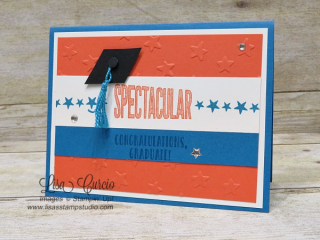 Graduation card, Stampin' Up!, card, paper, craft, scrapbook, rubber stamp, hobby, how to, DIY, handmade, Live with Lisa, Lisa's Stamp Studio, Lisa Curcio, www.lisasstampstudio.com