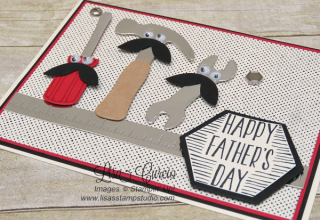 Nailed It for Father's Day  side view  Stampin' Up!  card  paper  craft  scrapbook  rubber stamp  hobby  how to  DIY  handmade  Live with Lisa  Lisa's Stamp Studio  Lisa Curcio  www.lisasstampstudio.com