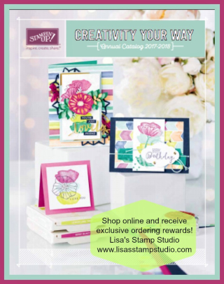 2017-2018 Stampin' Up! Catalog  Lisa's Stamp Studio with exclusive online ordering rewards. www.lisasstampstudio.com