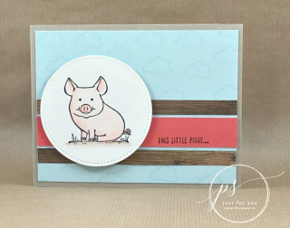 This Little Piggy  Stampin' Up!  card  paper  craft  scrapbook  rubber stamp  hobby  how to  DIY  handmade  Live with Lisa  Lisa's Stamp Studio  Lisa Curcio  www.lisasstampstudio.com