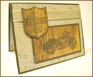 Woodgrain Harley Davidson, One Wild Ride, Stampin' Up!, card, paper, craft, scrapbook, rubber stamp, hobby, how to, DIY, handmade, Live with Lisa, Lisa's Stamp Studio, Lisa Curcio, www.lisasstampstudio.com