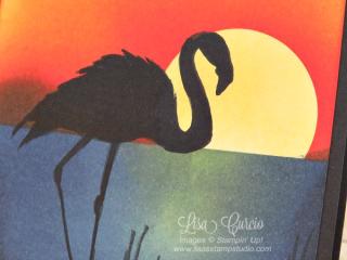 Sunset Flamingo, Fabulous Flamingo, Stampin' Up!, card, paper, craft, scrapbook, rubber stamp, hobby, how to, DIY, handmade, Live with Lisa, Lisa's Stamp Studio, Lisa Curcio, www.lisasstampstudio.com