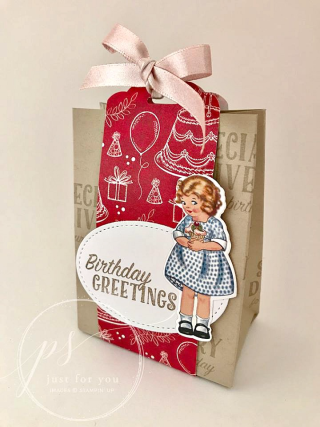 Birthday Delivery Bag makes the perfect favor or gift presentation, Stampin' Up!, card, paper, craft, scrapbook, rubber stamp, hobby, how to, DIY, handmade, Live with Lisa, Lisa's Stamp Studio, Lisa Curcio, www.lisasstampstudio.com