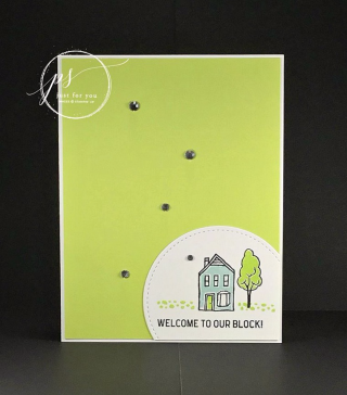 Welcome your new neighbors! Stampin' Up!, card, paper, craft, scrapbook, rubber stamp, hobby, how to, DIY, handmade, Live with Lisa, Lisa's Stamp Studio, Lisa Curcio, www.lisasstampstudio.com